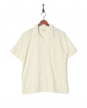 WHITE●麻レーヨン オープンカラーS/Sシャツ○SBST-104