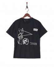 ブラック●CYA/TS GRAFFITIクルーネック半袖T○CYA18U0050