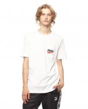 PUMA WHITE●PUMA ポケット SS Tシャツ○854077