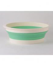 グリーン バッシヌ(畳める洗い桶)