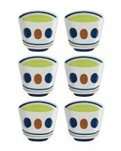 ブルー●豆皿 湯呑み 6個セット○26-MG-48504*6