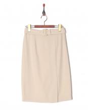 ベージュ●共ベルト付きタイトスカート○729520