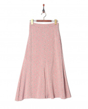 ピンク●Original Rose Print Long Skirt○189106052