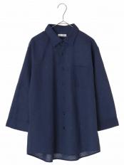 ブルー メンアサシチブソデシャツ[WEB限定サイズ] a.v.v HOMME○KHBHG66039