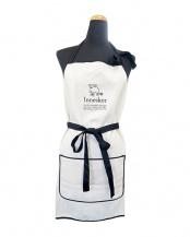 アイボリー● moz エプロン 巾着袋付○525384