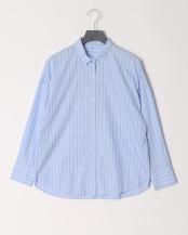 青色柄物●ブラウス○7-0040-5-01-003