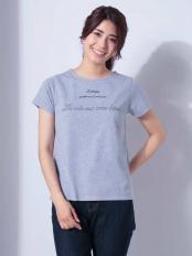 ライトグレー●ロゴ刺繍Tシャツ[WEB限定サイズ] a.v.v○K2KHD33024