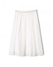 ホワイト DIRECTOIRE ブロックチェックフレアスカート(セットアップ対象商品) アナディス○5917190475