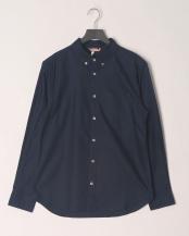 ネービー●綿オックスボタンダウンシャツ○354015N