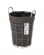 D.GY●WIRE ARTS & PRO.laundry ROUND BASKET_21L○003074
