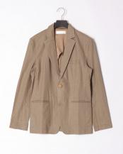 カーキベージュ●linen notched jacket○JSC-808