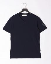 ネイビー●sleeve print t-shirt○JST-803