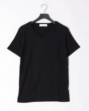 ネイビー●pile v cut t-shirt○JST-805