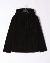ブラック●fleece high neck hoodie○NDO-827