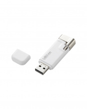 ホワイト●「Lightningコネクタ搭載USBメモリ」 USB2.0/32GB○LMF-LGU232GWH