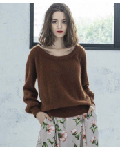 チョコレート●FOX KNIT BACK RIBBON PO○EM192360094