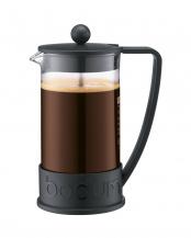 ブラック●ブラジル フレンチプレスコーヒーメーカー 1.0L○10938