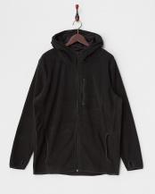 ブラック●フーデットフリースジャケット|UNISEX○FRI-FH0114 HOODED_BLK