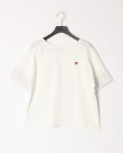 オフホワイト●コットンバスクジャージーボリュームTシャツ○55P33128