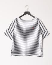 ネイビー●コットンバスクジャージーボリュームTシャツ○55P33128