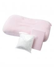 ピンク●専用カバー付きクリームパフピロー マシュマロタッチ○2435-56107
