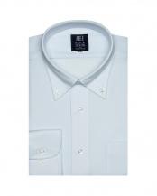 ブルー系●形態安定 ノーアイロン 長袖ワイシャツ ボタンダウン○BM019301CP12B2A