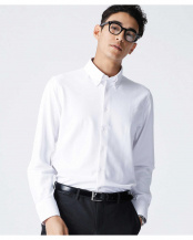 ホワイト●Anti Soaked鹿の子BDシャツ SL ナノ・ユニバースメンズ(オリジナル)○6689120046