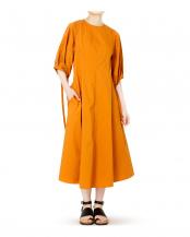オレンジ●VolumeSleeveDres○21A65103