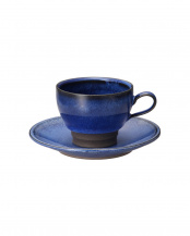 青釉流し コーヒー碗皿○4965089871148