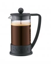ブラック●ブラジル フレンチプレスコーヒーメーカー 350mL○10948