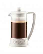 オフホワイト●ブラジル フレンチプレスコーヒーメーカー 350mL○10948