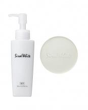 シロエホワイト 薬用クレンジングオイル(120mL)/薬用洗顔石鹸(80g) 2点セット○0125/0127