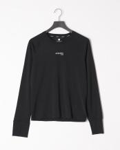 BLACK●ロングスリーブ フィットTシャツ○2110401