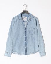 indigo●shirts(布帛)/レザー○2610700707