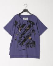 パープル●メッセージチュニックTシャツ○501031