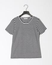 白系柄物●Basic Tシャツ○9-0035-3-03-004