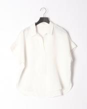 オフホワイト●フレンチリネンスキッパーカラーシャツ○02-1663