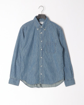 NAVY●6oz DENIMBASIC BDシャツ○BASIC-MK-022