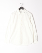 WHITE●LOOSE FITREGULAR COLLAR SHT○MA-S-302