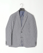 NAVY/WHITE●GINGHAM JKT○HM441449R