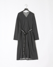 CHARCOAL●LOGO BELTED GOWN○03193521