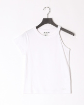 WHITE●ONE-SHOULDER S/S TEE○05192320