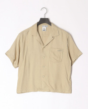 BEIGE●RAYON CROPPED SHIRT○05192412
