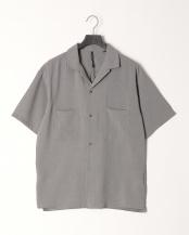 グレー●リネンタッチ両ポケオープンシャツ○104014H