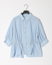 ライトブルー●ウエストシェイプオーバーサイズシャツ○011-88121