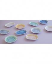 ブルー×パープル×グリーン×オレンジ●ARITA JEWEL ROUND 4P セット○FL06-02001/FL06-02002