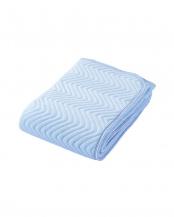 ブルー●綿素材使用 やわらか敷きパッド○5C-PT6104S