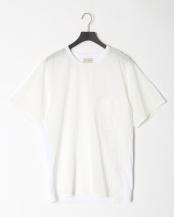 ホワイト●COOL MAX カノコシルケット   カノコ×布帛コンビTシャツ○01082037
