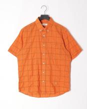 オレンジ●シャーリングチェックシャツ○316P5304
