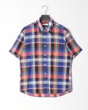ダルブルー●マドラスチェックシャツ○316P5310